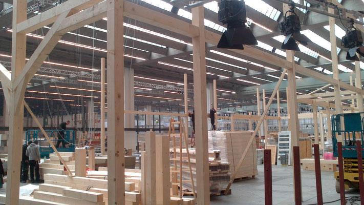 Aufbau und Montage am Beispiel Vogel & Noot Messestand, Messe ISH, Frankfurt 28.02.2013