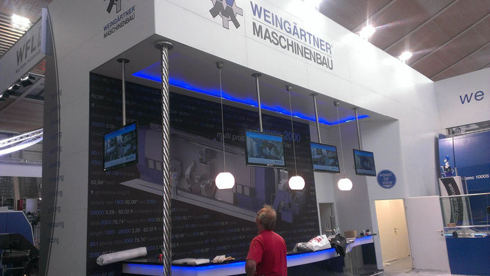Messestand Weingärtner, Messe EMO, Hannover 2013