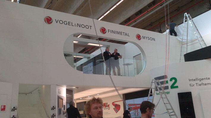 Aufbau und Montage am Beispiel Vogel & Noot Messestand, Messe ISH, Frankfurt 14.03.2013