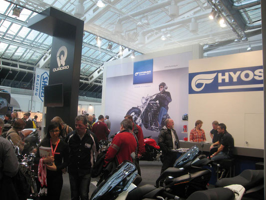 Messestand Hyosung, Messe Bike, München 2012
