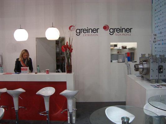 Messestand Greiner, Messe K, Düsseldorf 2013