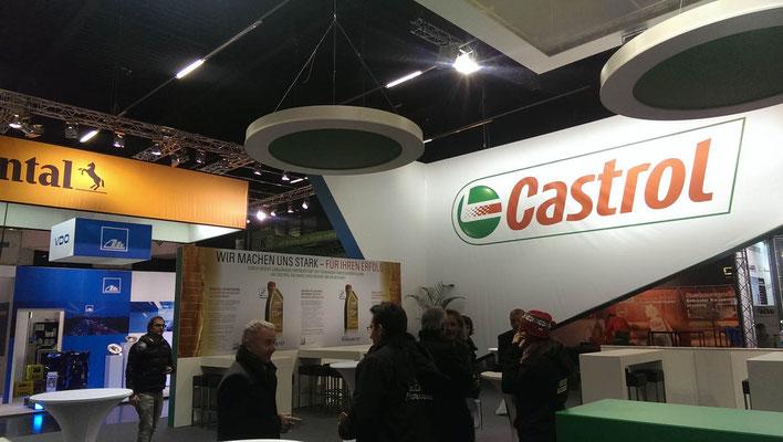 Messestand Castrol, Messe Autozum, Salzburg 2015