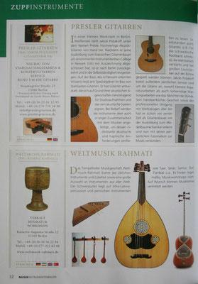 Musikinstrumentenbauer (Text)