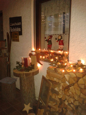 Weihnachtliche Stimmung im Landhaus Riedelstein