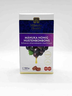 Hustenbonbon Manuka und Schwarze Johannisbeere MGO 400+ (Manuka Health New Zealand))