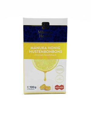 Lutschbonbon Manuka Honig 400+ mit Zitrone
