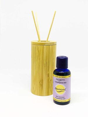 Bambus-Dekohalter rund für AQUAROMA-Flaschen