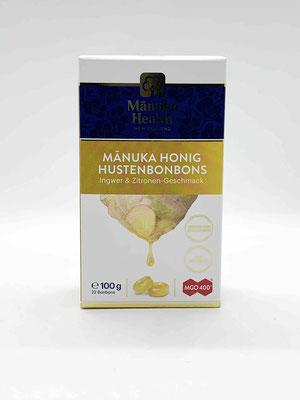 Hustenbonbon Manuka Ingwer & Zitrone MGO 400+ (Manuka Health New Zealand)
