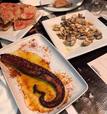 Delicious octopus and seafood tapas barcelona