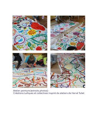 Extrait d'un atelier peinture réalisé à l'AQCV (Association de Quartier du Centre Ville) de Chambéry