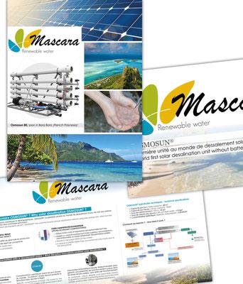 Réalisations de différents panneaux pour les stand de l'entreprise Mascara.