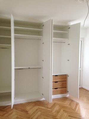 www.der-einbauschrank.de / Schlafzimmereinbauschrank weiß