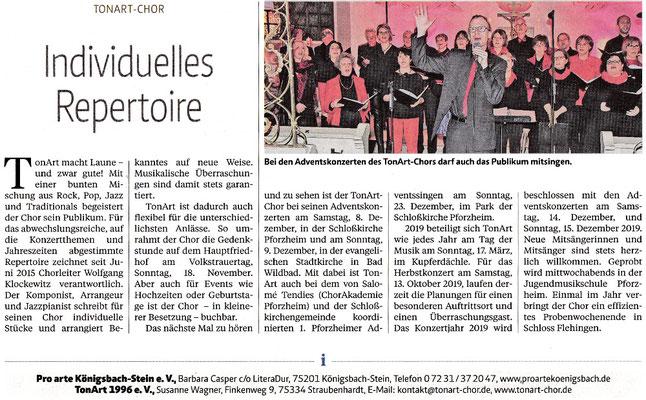 Pforzheimer Zeitung (Kultur & Mehr 18/19) vom 10.04.18