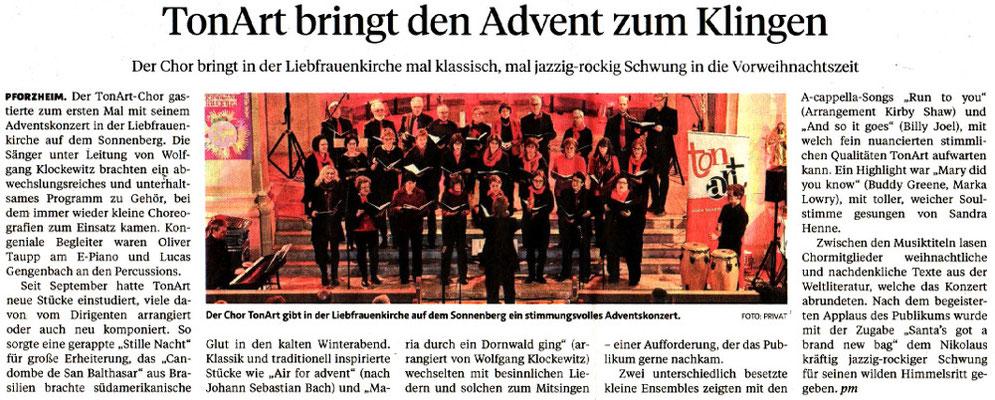 Pforzheimer Zeitung vom 19.12.17