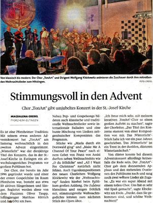 Pforzheimer Zeitung vom 07.12.2016
