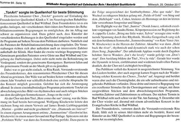 Schwarzwälder Bote (Bad Wildbad 22.12.17)