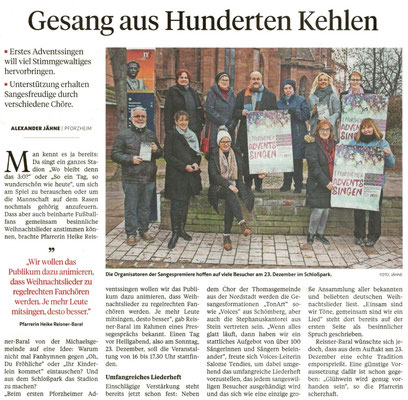 Pforzheimer Zeitung vom 17.12.18