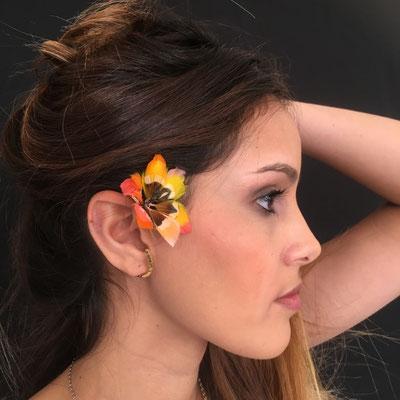 Tour d'oreille Tiaré en plumes