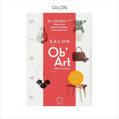2ème participation au superbe salon Ob'Art qui se tient dans le Marais à Paris