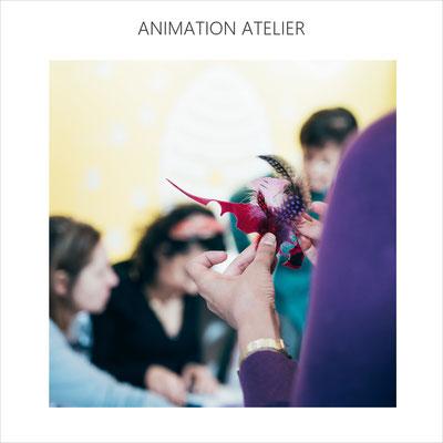 AnaGold anime un atelier de création au Maïf Social Club sous le patronage de la start up Worlmadestories (fév 2020)