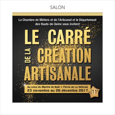 Exposition à la Défense dans le carré de la création artisanale sur sélection de la Chambre des Métiers et de l'Artisanat