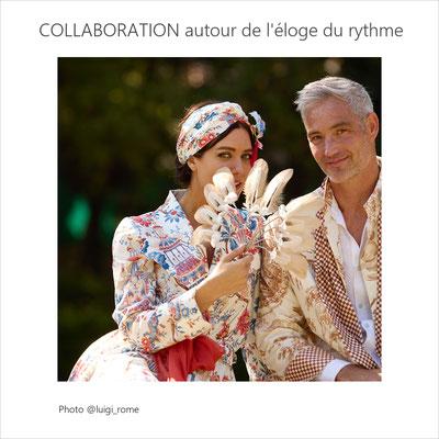 Collaboration avec l'éditeur de tissu Charles Burger, Guylène Garcia tapissière haute couture, Isabelle Anselot, créatrice de manteaux d'intérieur et l'Agence Céline Kowalski, gardienne de l'art de vivre à la française (sept 2021)