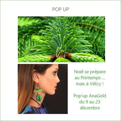 Corner dédié à AnaGold au magasin Printemps Vélizy (déc 2019) avec service de personnalisation sur place