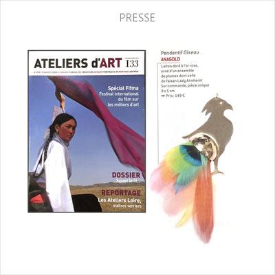 AnaGold est publiée dans le magazine des Ateliers d'Art de France