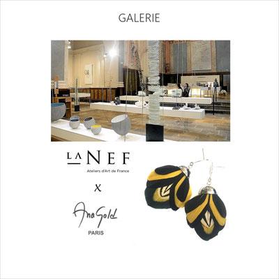 Exposition vente dans la galerie la Nef installée dans la chapelle de la Visitation à Montpellier