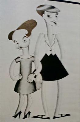 Karikatur von Coralie Hobson und Pearl Binder, 1926