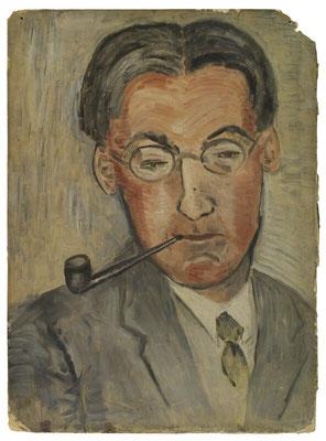 Porträt Oliver Strachey von Ray Strachey  1930-er  Jahres
