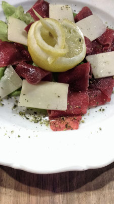 Cured meats and Sheep's Cheese at Gostilna Danica, Slovenia