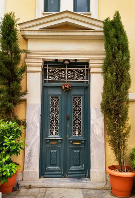 Photogenic doorways galore in old town Athens