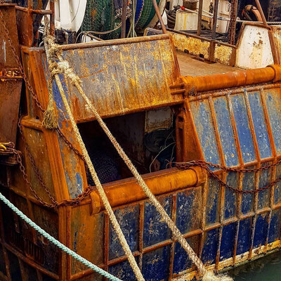 Love the deep colour of the rust on this boat