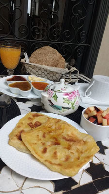 The Moroccan breakfast at Riad Star