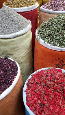 The souks in Marrakech have all manner of scents to tickle your nosebuds