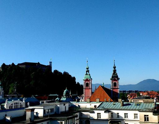 Lublijana with Castle on the hill, Slovenia