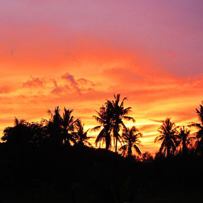 The sunset on the Gilis Indonesia