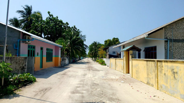 Laid back streets and island vibes on Dharavandhoo, the Maldives. Dante Harker
