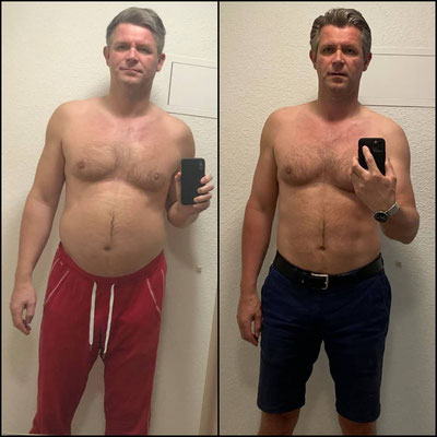 Transformation, Before and After, Ernährungsberatung