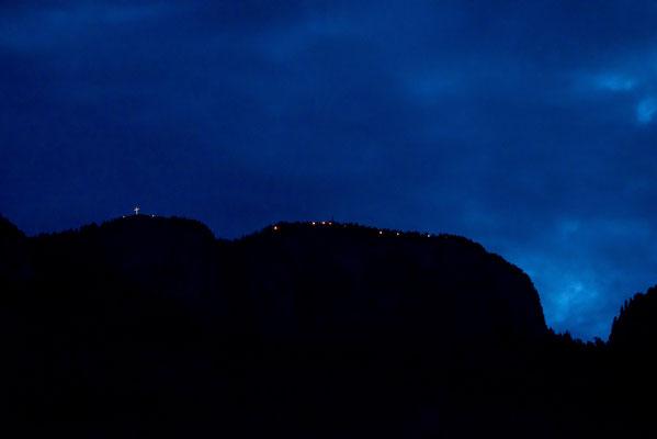 Herz-Jesu 2016: Bergfeuer am Gantkofel