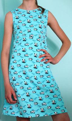 Pandakleid, selbstgemacht im Kindernähkurs