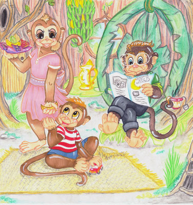 children's book illustration family
