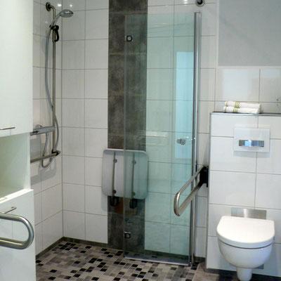 Stützgriffe an WC und Waschtisch
