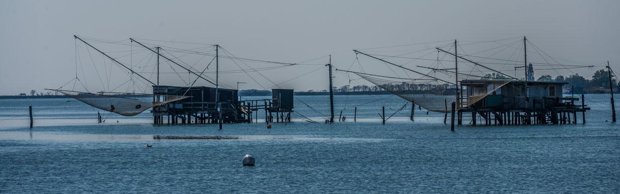 Fischergalgen an der LAguna di Comacchio