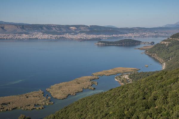 Aussicht auf den Pamvotida See und Ioannina