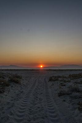 Sonnenuntergang beim Leuchtturm von Possidi