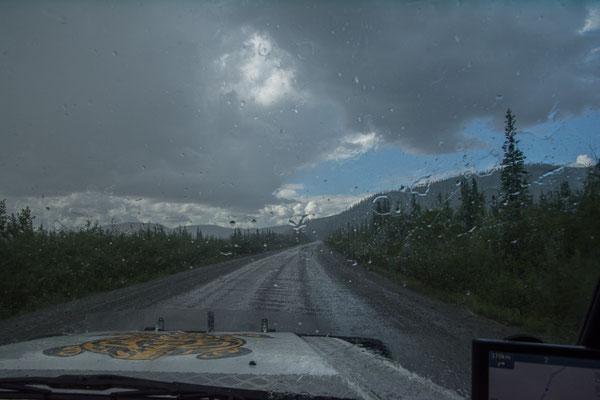 Nun hat uns die Regenfront doch noch erwischt