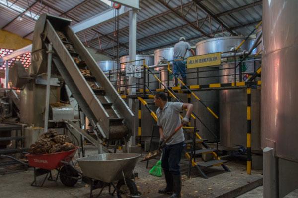 Die Häckselmaschine und Presse der neueren Anlage