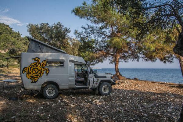 Herrliches Buschcamp an einem 4x4 zugänglichen Strand